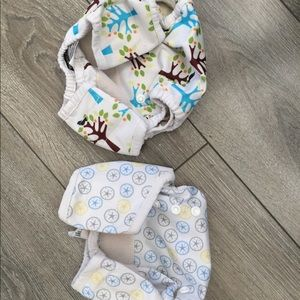 Thirsties 2 cloth diaper outter shells. One size